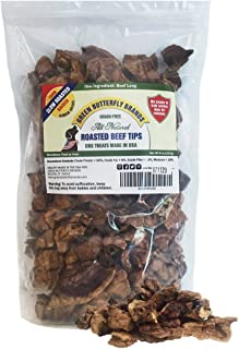 Green Butterfly Brands Beef Dog Treats – Made in USA Only – All Natural, Meaty Beef Tips – Premium Slow Roasted American Beef – Grass Fed, Farm Raised – Crunchy, Grain Free Training Treat, 8 Ounces