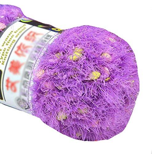 Ensemble de 3 fils tricotés de couleur Hairball Fils tissés tissés à la main, Violet