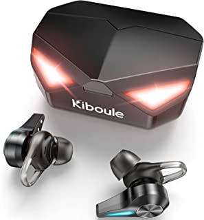 Kiboule Gaming Wireless Earbuds,Wireless Headphones 45ms Low Latency in-Ear Headset,Stereo Sound with Buil-in Mic for Gami...