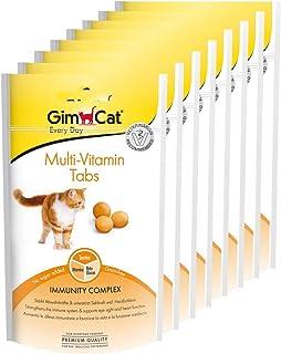 GimCat Multi-Vitamin. comprimidos - Snack para gatos funcional que favorece el sistema inmunológico. el corazón y la vista - Pack