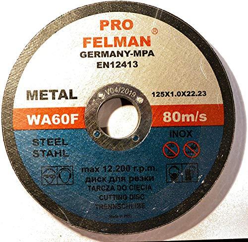50 dischi da taglio per acciaio Felman Pro 125 x 1,0 mm T41 (50)
