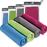 4pc Cooling Towel, Cool Towel, Gym Towels, Cold Towel, Cooling Towels for neck, Ice Towel Cooling Blanket, Cooling neck wrap ,Gym Towel, Sweat towel, Cool Towel for Instant Cooling relief, Men Women