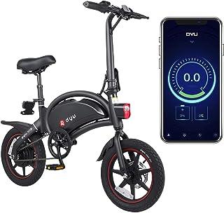 DYU D3 PLUS hopfällbar elcykel, smart cykel för vuxna, 240 W aluminiumlegering cykel avtagbar 36 V/10 Ah litiumjonbatteri ...