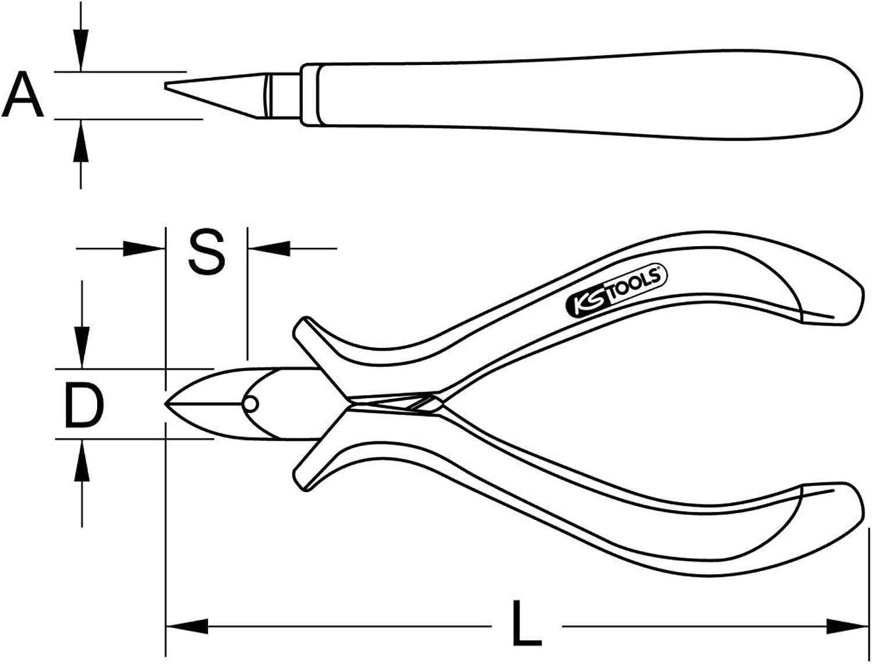 KS KS KS Tools 500.7091 ESD Hartmetall-Seitenschneider, 125mm B00QU7SKWW | Angemessene Lieferung und pünktliche Lieferung  76abca