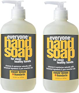 Everyone Meyer Lemon and Mandarin Hand Soap with Chamomile, Calendula, Aloe and White Tea Extracts, 12.75 fl. oz. (Pack of 2)
