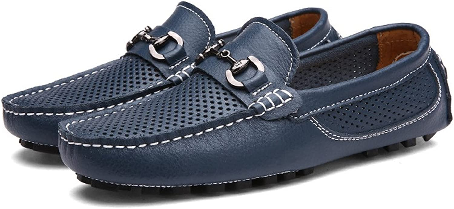 Men's Driving Loafers Hollow Vamp Penny Boat shoes Soft Sole Leisure Moccasins (color   Navy, Size   6 UK)