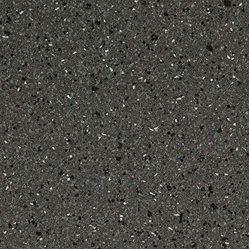 BODENMEISTER BM70569 Vinylboden PVC Bodenbelag Meterware 200, 300, 400 cm breit, Steinoptik Chip grau