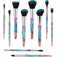 Makeup Brushes, 10PCs Professional Cosmetic Brush Set Special Shiny Foundation Face Powder...