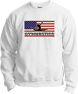 United States American Pride Gymnastics Gymnast Crewneck Sweatshirt 3XL White