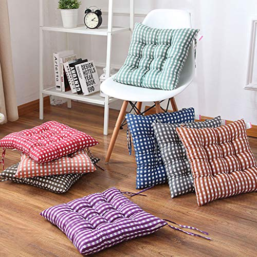MKWEY Chair Cushion with Ties 6 Pack, Chair Pads and Cushions, Seat Cushion for Chair Thick, 16' X 16', Keep Couch Cushions From Sliding, for Home Office Car Seat Sofa