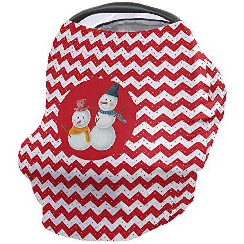 Best Prices! Breastfeeding Nursing Cover Multi Use for Baby Car Seat Chevron Zig Zag with Christmas ...