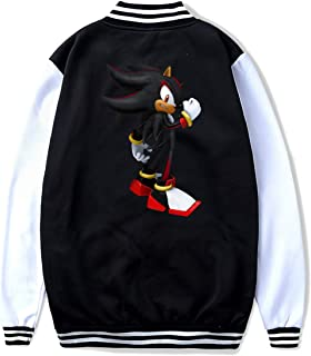 Sonic Shadow The Hedgehog Boys Jacket Youth Baseball Jackets Sport Sweatshirt Coat for Kids Teen Boys Girls