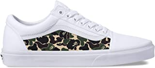 Vans White Old Skool x Bape Custom Handmade Uni-Sex Shoes By Patch Collection
