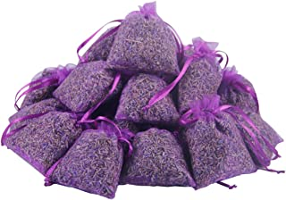Cedar Space 25 Purple French Dried Lavender Sachets Craft Bag - Lavender Sachets Wedding Toss, Home Fragrance Sachets Drawers Dressers, Lovely Dried Lavender Flower Buds Sachets
