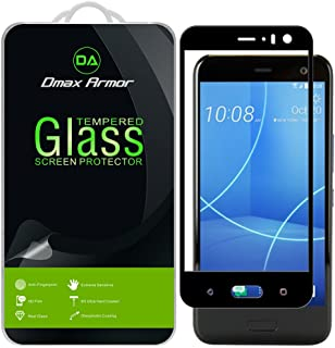 [2-Pack] Dmax Armor for HTC U11 Life Screen Protector, (Full Screen Coverage) [Tempered Glass] Anti-Scratch, Anti-Fingerprint, Bubble Free, (Black)