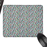 Robot Patterned Mouse pad Humorous Cartoon Style Toys Science Fiction Themed Illustration Cyborg Playthings Easy to Clean and Maintain W12 x L27.5 x H0.8 Inch Multicolor