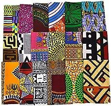 Random 10 Fat Eighth Fabric Bundle African Quilt Fabric   Fat Eight Fabric Mixed Ankara Print Fabric Craft Supplies WB166