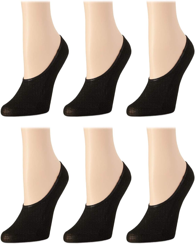 Body Glove Women's Socks – Liner Socks with No-Slip Heel (6 or 12 Pack)