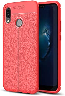 JDYS AYSMG For Huawei P20 Lite Litchi Texture Soft TPU Protective Back Cover Case (Black) (Color : Red)