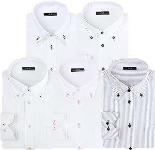 [アトリエサンロクゴ] ワイシャツセット ワイシャツ 5枚セット 形態安定 長袖Yシャツ ワークシャツ ビジネスワイシャツ at101 メンズ