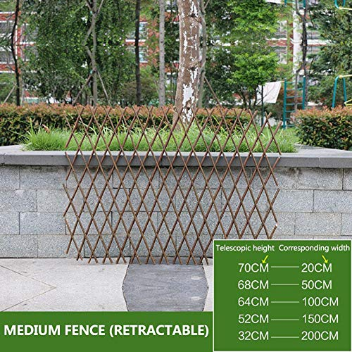 Garden Fencing, Planter with Trellis, Lifestyle Solutions Solid Wood Expanding Fence | Mobile and Movable Fence | Gardeners & Pet Owners | Fold-able Design and Lightweight from Natural Wood