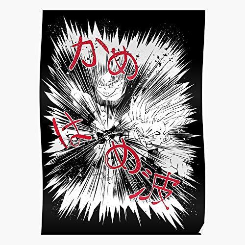 Cell Gt Gohan Ball Dragon Manga Goku Kamehameha Comic Home Decor Wall Art Print Poster !