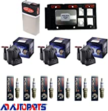 AD Auto Parts Coil Pack - DS1004 Ignition Control Module + 3 Herko B005 Ignition Coils + 6 4504 Spark Plugs