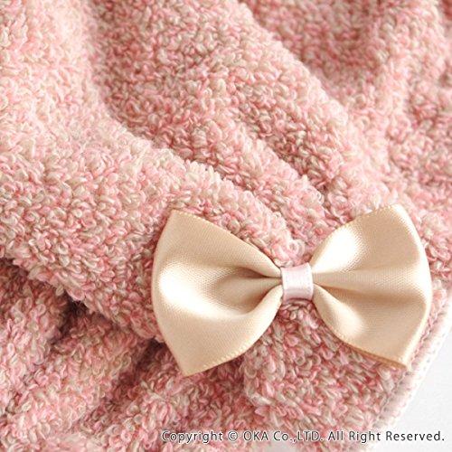 オカPLYS(プリス)シェリールスフレヘアドライタオル約31×100cm(伸長時)(ピンク)