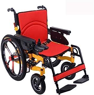 Wheelchair Sillas de Ruedas eléctricas Plegables Sillas de Ruedas eléctricas de Metal Sillas eléctricas Ligeras con Frenos de Mano, apoyabrazos elevables, batería de Litio 20A