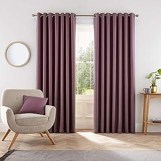 Helena Springfield London Eden Curtains, Polyester, Grape, 90x72