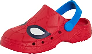 Boys Spiderman Clogs Summer Sandals Beach Slip-On Summer Shoes Flip Flops Garden Mules
