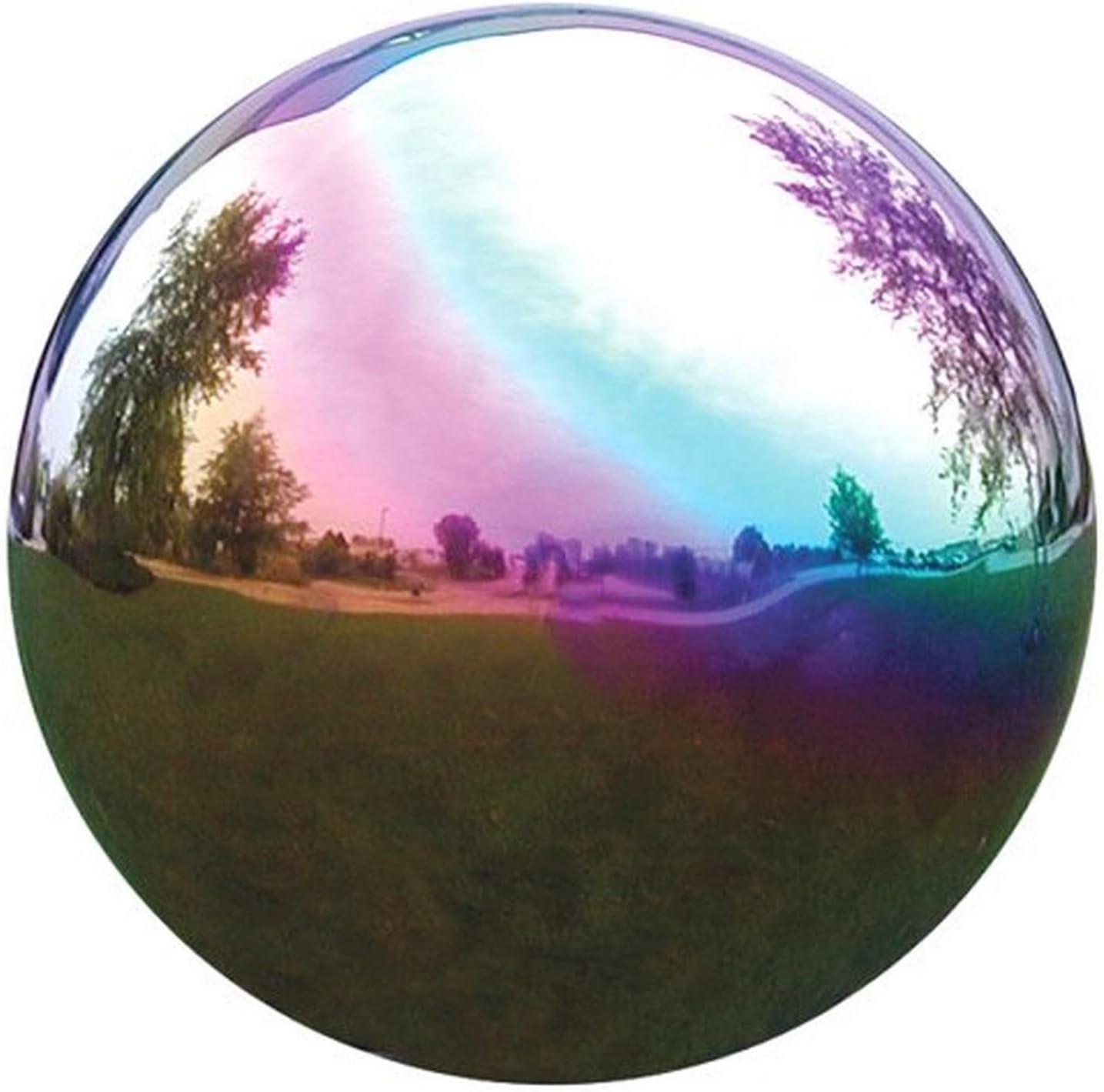 VCS RNB10 Mirror Ball 10-Inch Rainbow Stainless Steel Gazing Glo