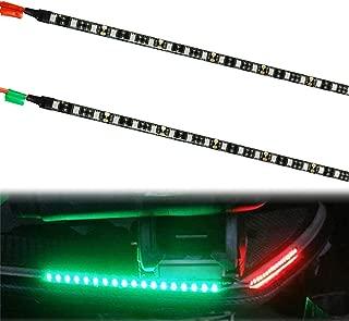 WOTECH Boat Lights, LED Boat Bow Navigation Lights for Marine Pontoon Kayak Yacht, 12V Power Light Strip Kit - Red and Green