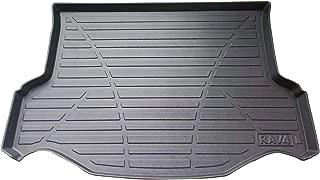 LSAUTO Cargo Liner Rear Waterproof Anti-Slip Car Trunk Tray Mat Protector Cover in Heavy Duty for Toyota RAV4 2013 2014 2015 2016 2017 2018 Black