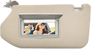 LECBERT Left Driver Side Sun Visor for Nissan Pathfinder 2013 2014 2015 2016 2017 2018, Infiniti QX60 2014-2017, 2013 Infiniti JX35 with sunroof and Light, Tan Beige (Left Driver Side)