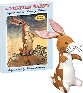 YOTTOY Velveteen Rabbit from The Velveteen Rabbit Book 10 inch Stuffed Animal & Hardcover Book