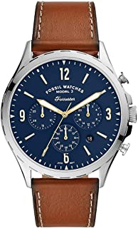 Fossil Forrester Chrono Men's Blue Dial Leather Analog Watch - FS5607