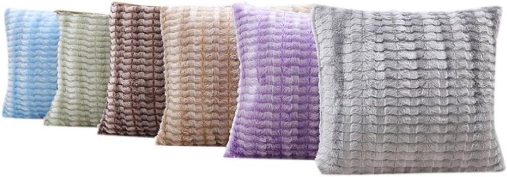 Super1798doux en peluche Taie d'oreiller Taille Canapé Housse de coussin Home Decor, violet, Taille M Bleu Ciel