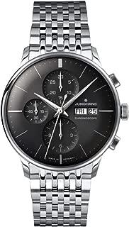 Watch Mens Meister Chronoscope Stainless Steel Sunray Dark Grey Dial Day Date 027/4324.45