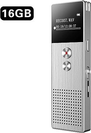 Grabadora de Voz BENJIE 16G Grabador de Audio con Sonido Activado, Grabadora de Voz Espia