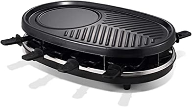 AOIWE Raclette grill électrique double couche 1500 W sans fumée (couleur : noir)