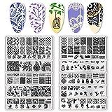 BORN PRETTY Stamping Schablone - Juego de 10 platos de manicura de 10 piezas por Salon Designs
