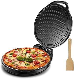 Elektrisk pizza bakpanna, non-stick dubbelsidig pizza maker, för hemlagad pizza grillad fisk stekt ägg crepes omeletter