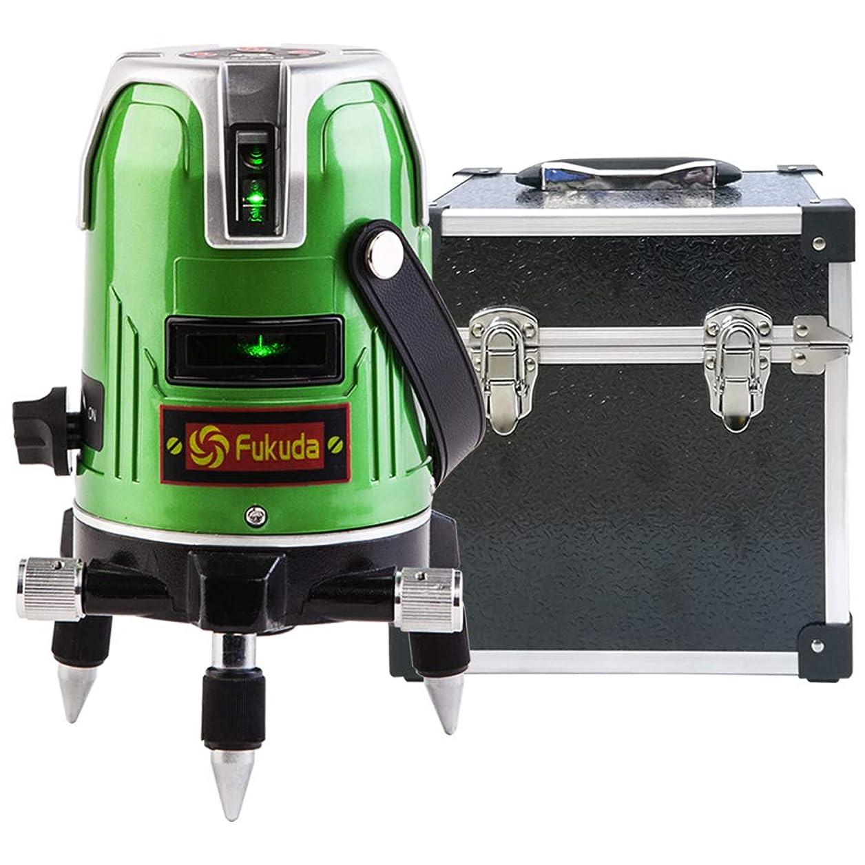 シンプルさあいにく近傍FUKUDA 5ライン グリーンレーザー墨出し器 EK-468G J 4垂直?1水平 フクダ レーザー墨出し器 【1年保証】水平器 フルライン測定器