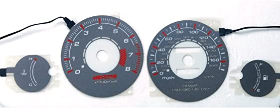 BAR Autotech 🌠 Indiglo Glow Gauge car EL Panel Gray face for Mitsubishi Eclipse Non Turbo 95-99