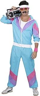 WIDMANN Disfraz 80s Shell Retro - Chándal para adulto- Multicolor (Azul-Lila-Rosa)- talla del fabricante: M