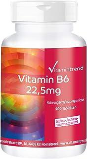 Vitamina B6 22.5mg – Vegano – Piridoxina HCl – Bote grande – 400 comprimidos