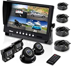 $202 » Pyle Mobile Video Surveillance System - Weatherproof Rearview, Backup and Dash Cam with HD 4 IR LED Night Vision Cameras a...