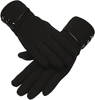 Fani Womens Gloves Winter Thick Warm Lined Windproof Touch Screen Gloves
