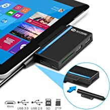 Microsoft Surface Go USB Hub Type-C& 3-Slot Card Reader Adapter, Eletrand 6 in 1 USB C Combo Dock with SD/Micro SD(TF) Card Writer, High-Speed USB 3.0 Up to 5Gbps for U Disk Surface Go Keyboard&Mouse